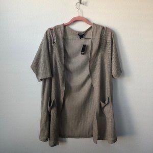Torrid Gray Open Shoulder Sweater 3 22/24
